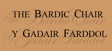 The Bardic Chair Y Gadair Farddol by Richard Bebb and Sioned Williams